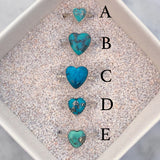 Turquoise Heart Rings [Sterling Silver]