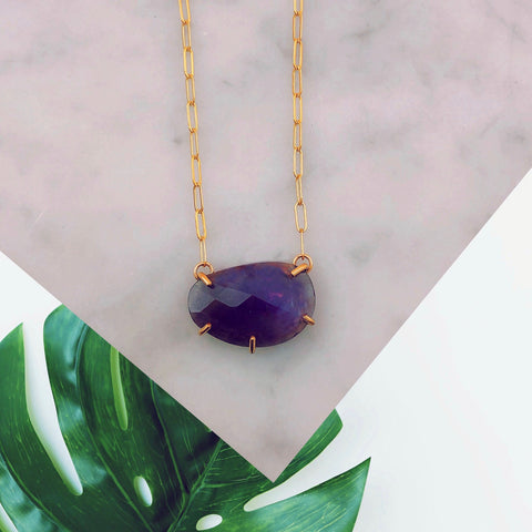 Amethyst Necklace [Rose Cut]