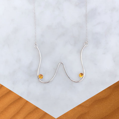 Hangin' Out Necklace [Sterling+ Citrine]