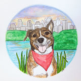 Pet Portrait [Custom Scenic Background]