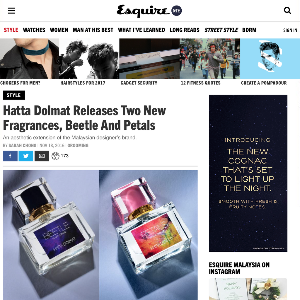 In the News: Feature in Esquire Malaysia