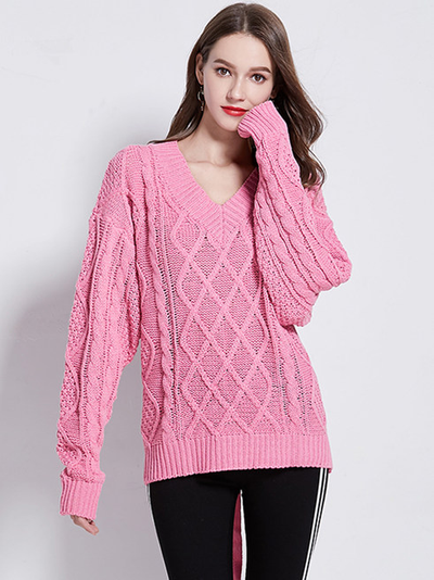 Syl Back Tie Loose Sweater Pullovers