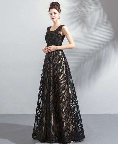 Sonam Beaded High Waist Embroidery Evening Dress