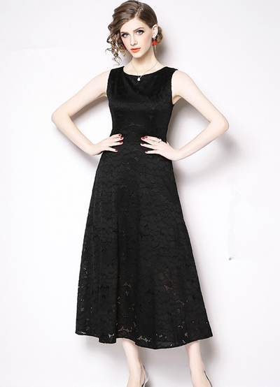 Kirlyn High Waist Lace Long Dress