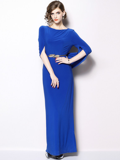 Arlyn High Waist Batwing Split Slim Maxi Dress