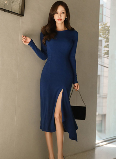 Emerose Split Fishtail Slim Long Dress