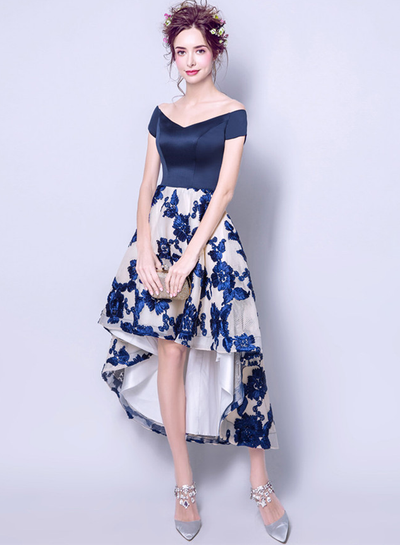 Dianne Floral Embroidery Dovetail Party Dress