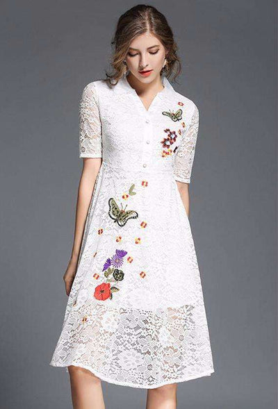 Belinda Embroidery Lace Dress