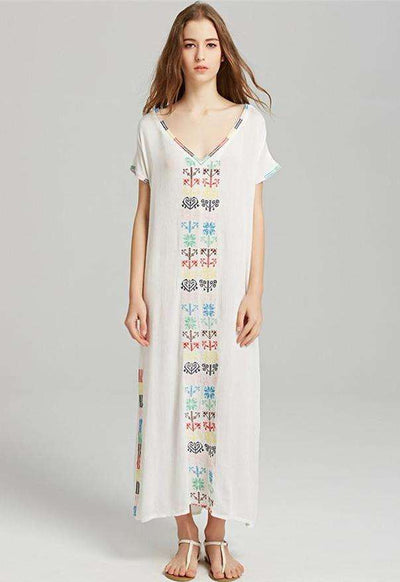 Emery Classic European Fashion Embroidery Loose Dress