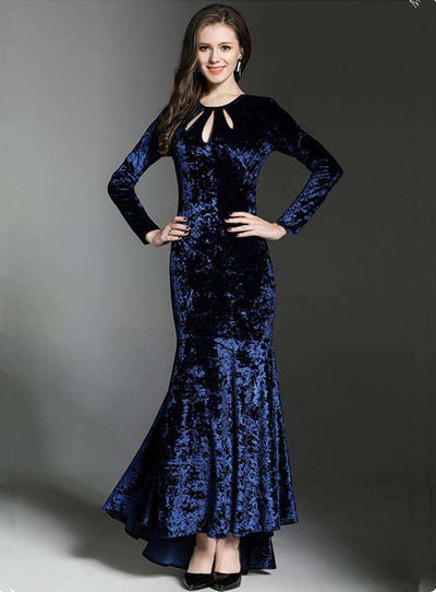 Florrie Fishtail Velvet Dress