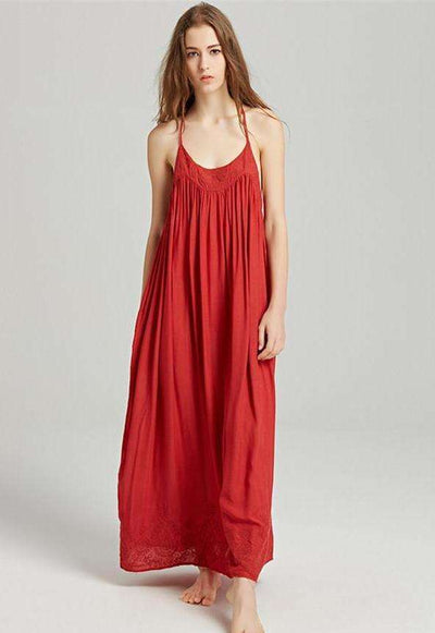 Jocelyn Backless Halter Maxi Dress