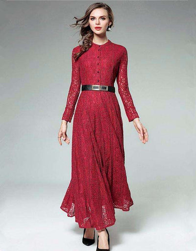 Lesha Long Sleeve Lace Maxi Dress