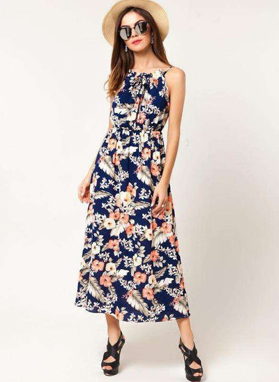 Makenna Floral Print Long Dress