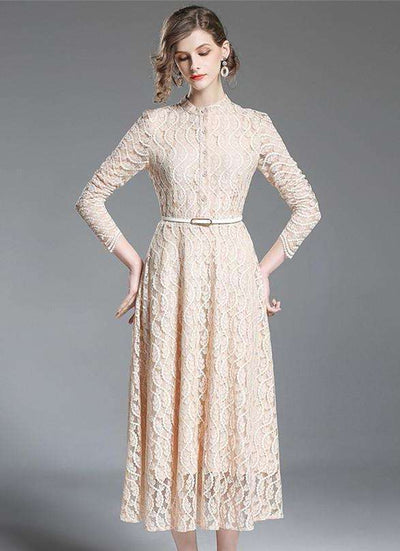 Parker High Waist Lace Maxi Dress