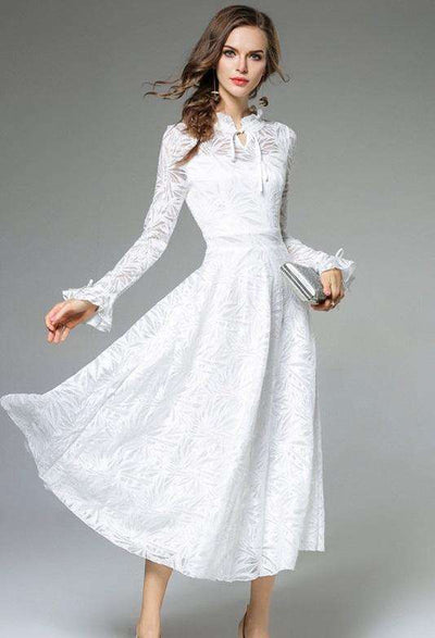 Wynne Lace White Dress