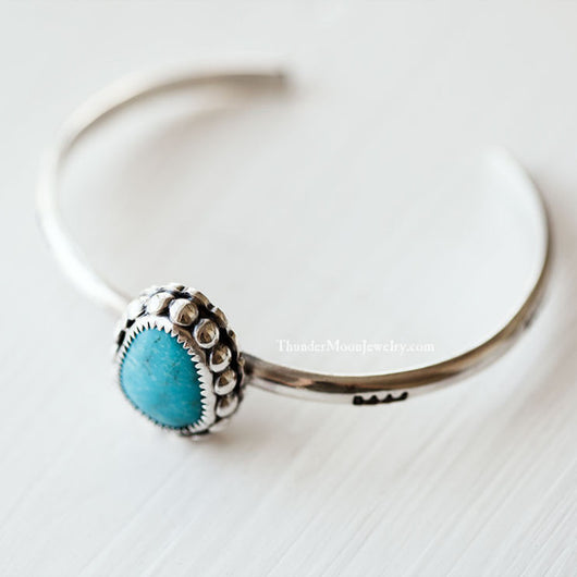 Morenci Turquoise - Sterling Silver Cuff