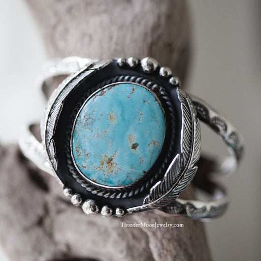Royston Turquoise - Sterling Silver Cuff