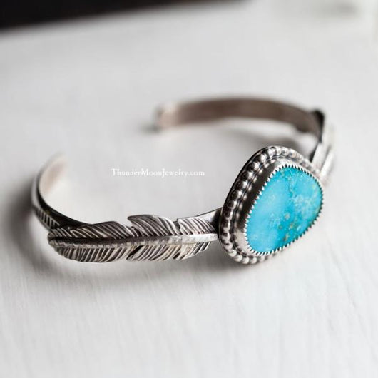 Kingman Turquoise - Sterling Silver Cuff
