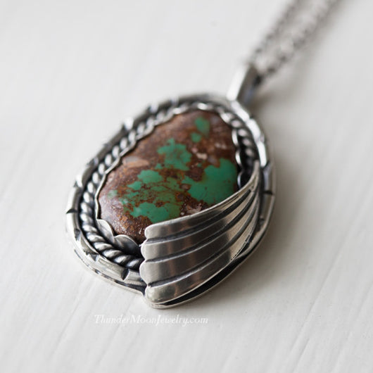 Pilot Mountain Turquoise - Sterling Silver Necklace