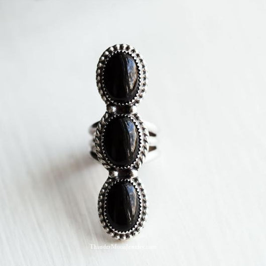 Black Onyx - Sterling Silver Ring