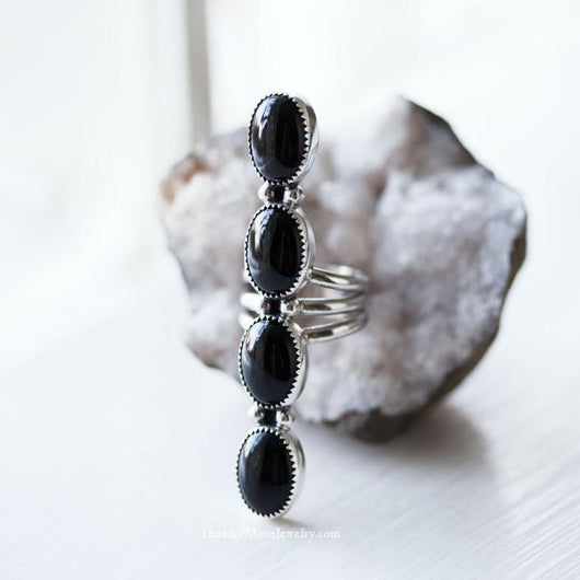 Black Onyx- Sterling Silver Ring