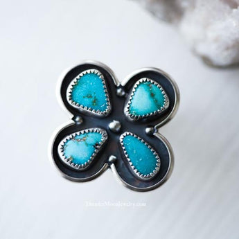 Kingman Turquoise - Sterling SIlver Ring - Size 6.5