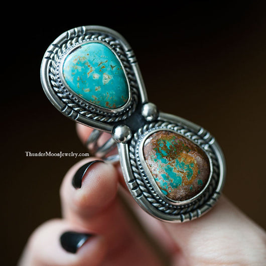 Kingman/Pilot Mountain Turquoise - Sterling Silver Ring - Size 7