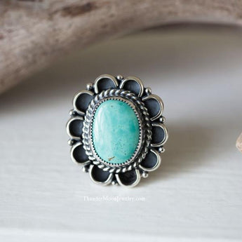 Kingman Turquoise - Sterling Silver Ring - Size 7