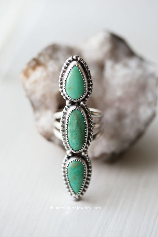 Elisa Mine Turquoise - Sterling Silver Ring - Size 7