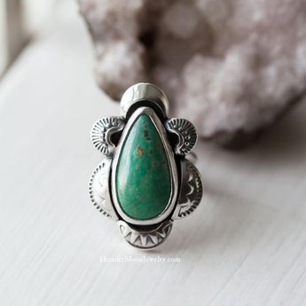 Carico Lake Turquoise - Sterling Silver Ring - Size 7