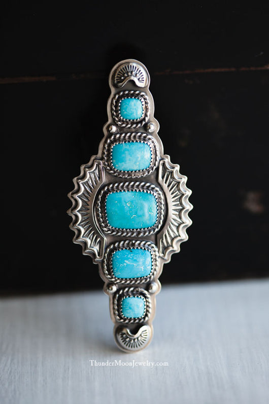 Sleeping Beauty Turquoise - Sterling Silver Ring - Size 7.5