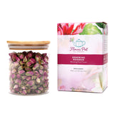 Renewing Rosebud Floral Tisane - Large Glass Jar