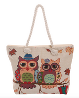 Mr and Mrs Love Owl Tote