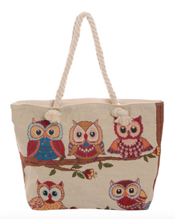 A Family of Owls Tote