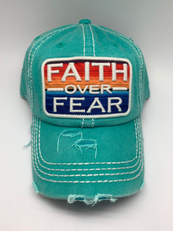 Faith Over Fear - Turquoise