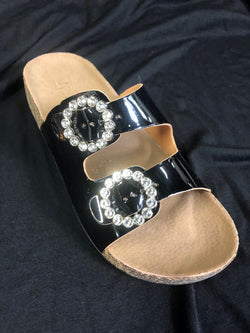 Black Sandals with bling