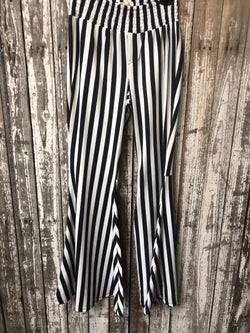 Black and White Striped Belles W/ Back Pockets