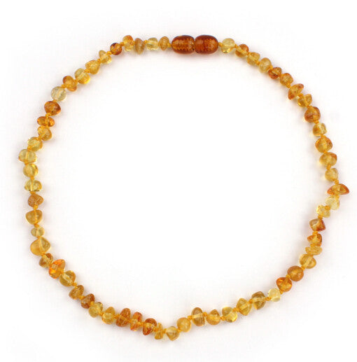 Amber Stones Baby Teething Necklace