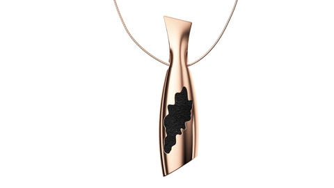 Rose Gold Bottle Pendant