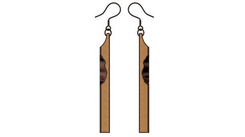 Coffee Cuboid Earrings