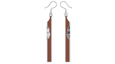 Silver Cuboid Earrings