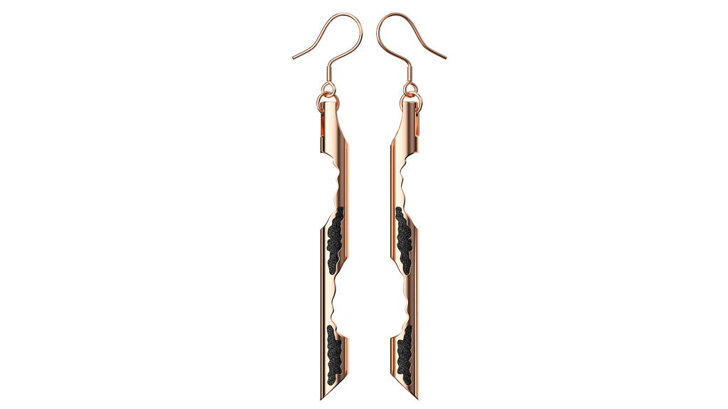 Rose Gold Cylinder Earrings