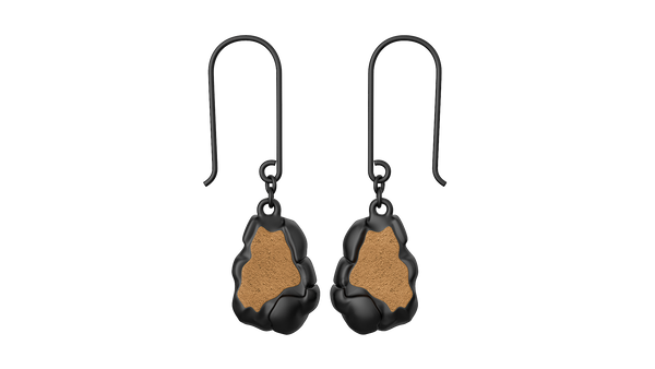 Black Rock Drop Earrings