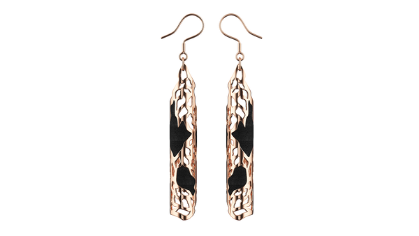 Rose Gold Jaali Earrings