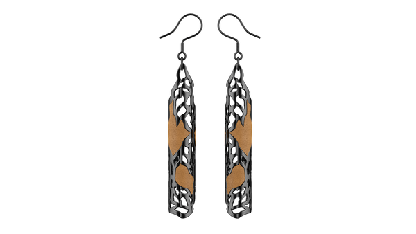 Black Jaali Earrings