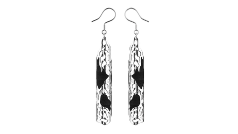 Silver Jaali Earrings