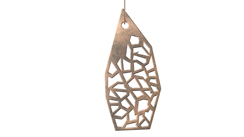 Antique Rose Gold Trellis Pendant