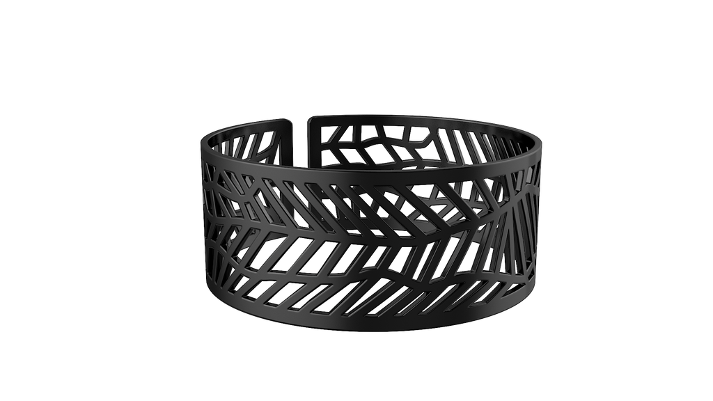 Black Trellis Bangle