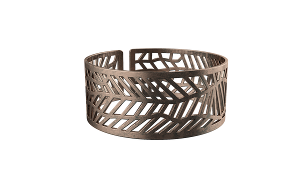 Antique Rose Gold Trellis Bangle