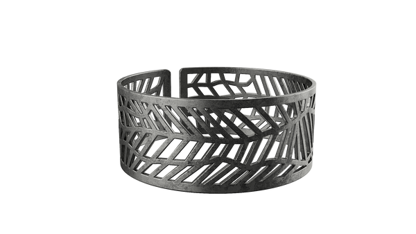 Antique Silver Trellis Bangle